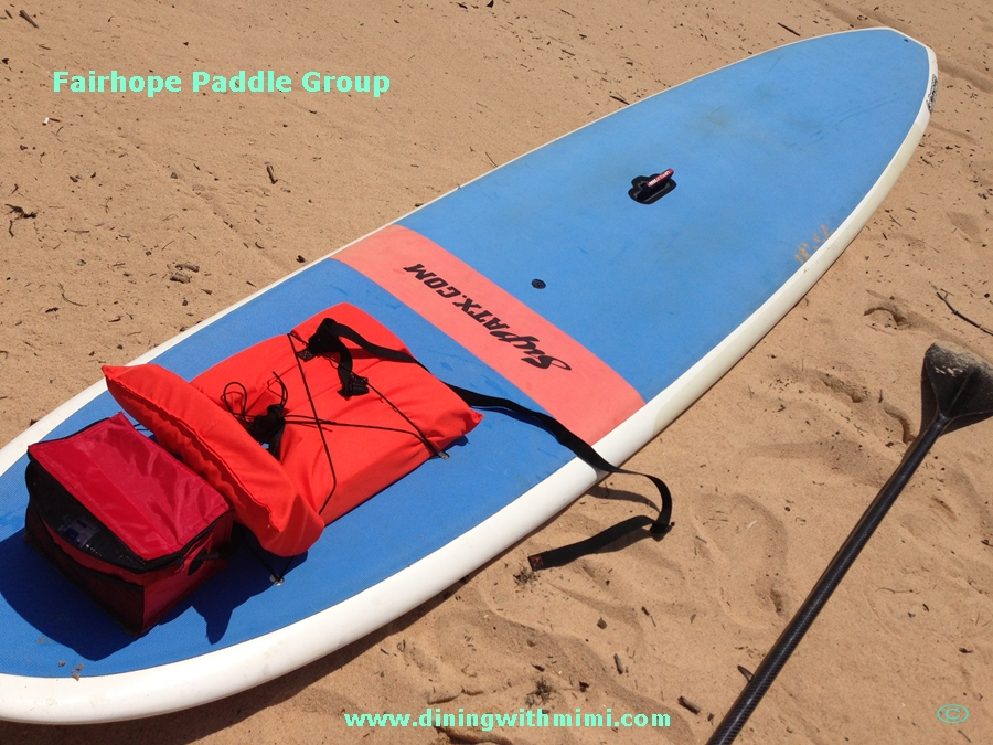 Sand, Paddle, Life Preserver and water Local Paddle Group www.diningwithmimi.com