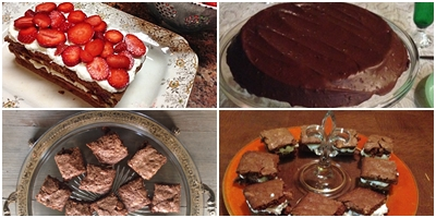 Chocolate desserts on Celebrate first year blog anniversary