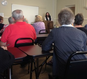 Speaker Kara Bachman spoke at SeptemberWriting Group www.diningwithmimi.com