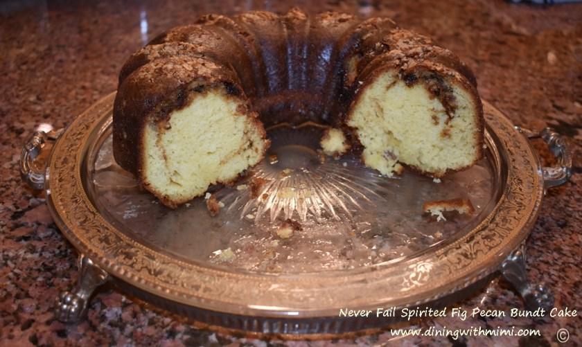 Never Fail Spirited Fig Pecan Bundt Cake