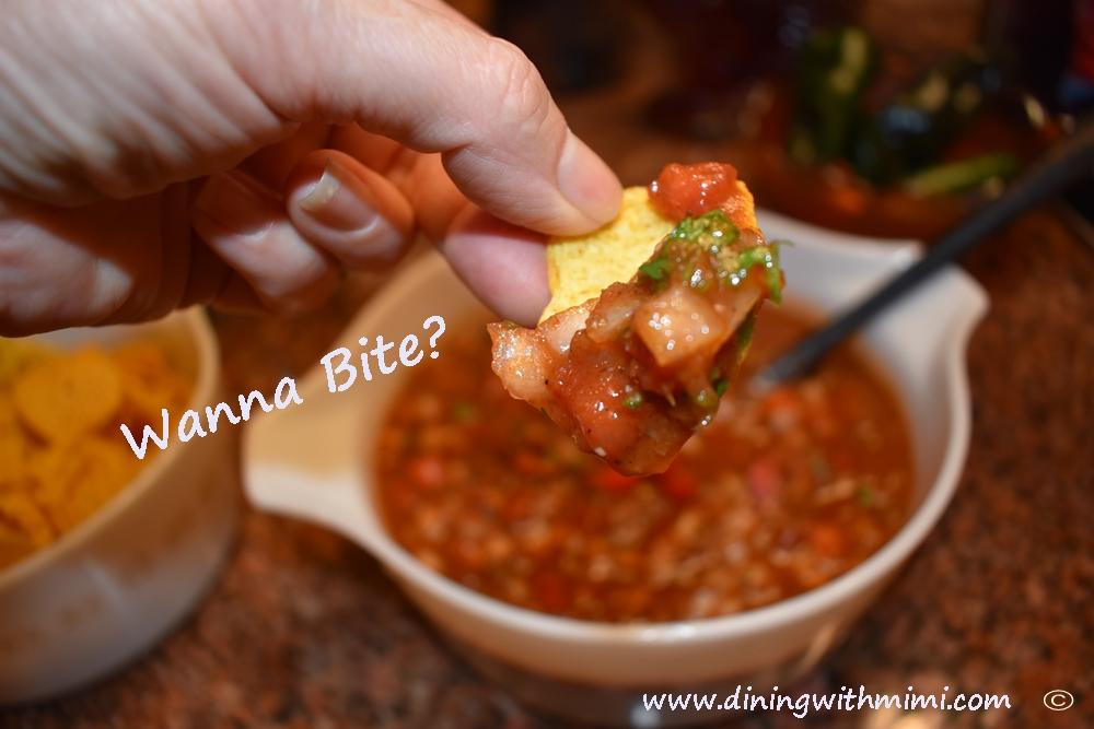 Smoky Roasted Poblano, Tomatillo and Tomato Salsa