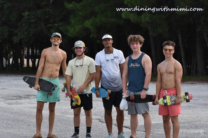 Skateboarders who Unwind on Dauphin Island www.diningwithmimi.com