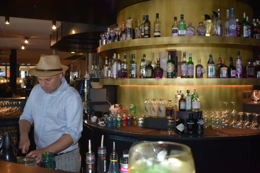 Bartender at Central Plaza Hotel in Missing the Swiss while jet-lagged and hoarding chocolate www.diningwithmimi.com