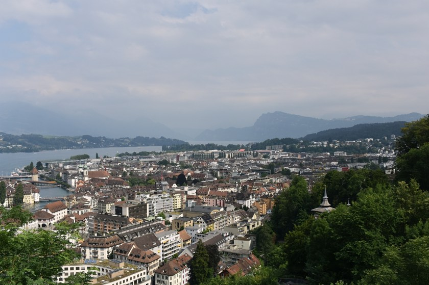 View from Chateau Gutsch Luzern Lucerne How I love thee Let me count the ways www.diningwithmimi.com
