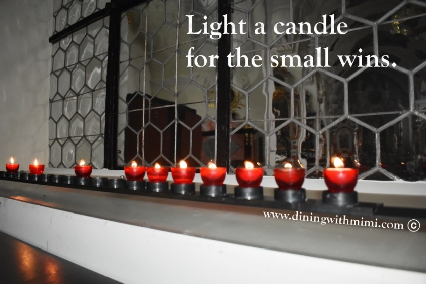 Monaster Glass window Switzerland, LIght a candle for the small wins www.diningwithmimi.com