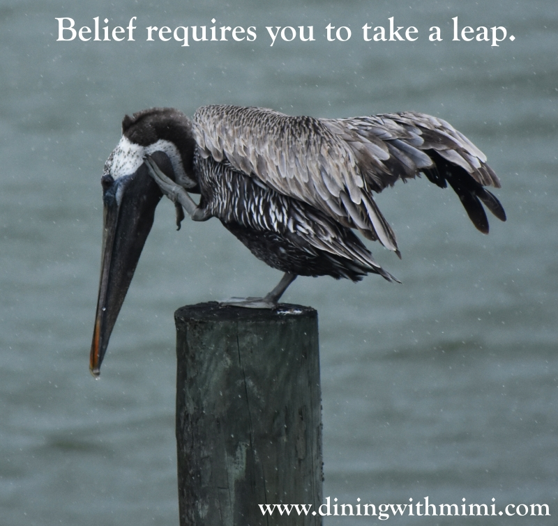 Discovery- Belief requires you to take a leap for La Revue Dining With Mimi 2 www.diningwithmimi.com