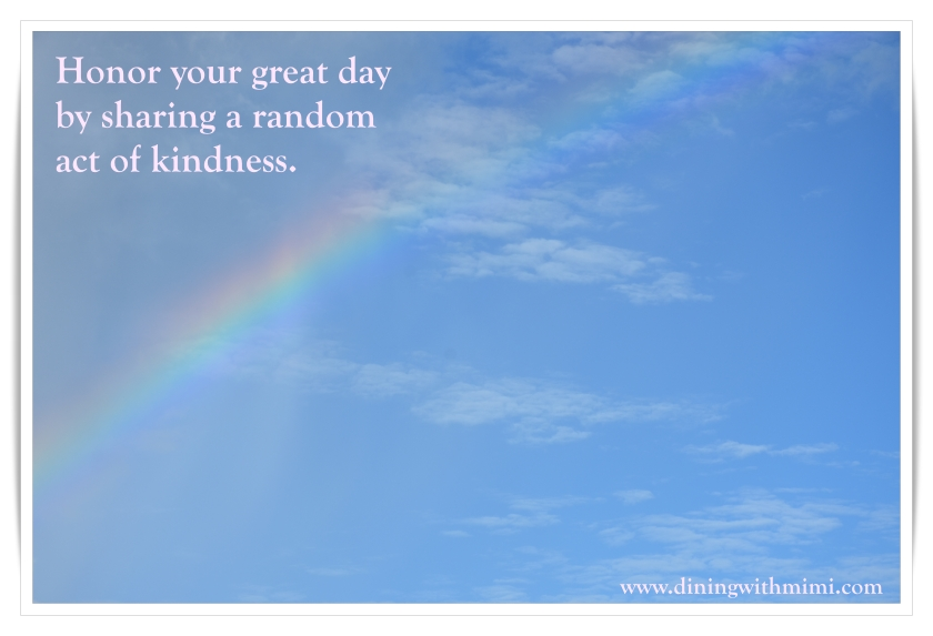 Honor each day with tips from February 2020 Hoda Wan Kenobi  www.diningwithmimi.com