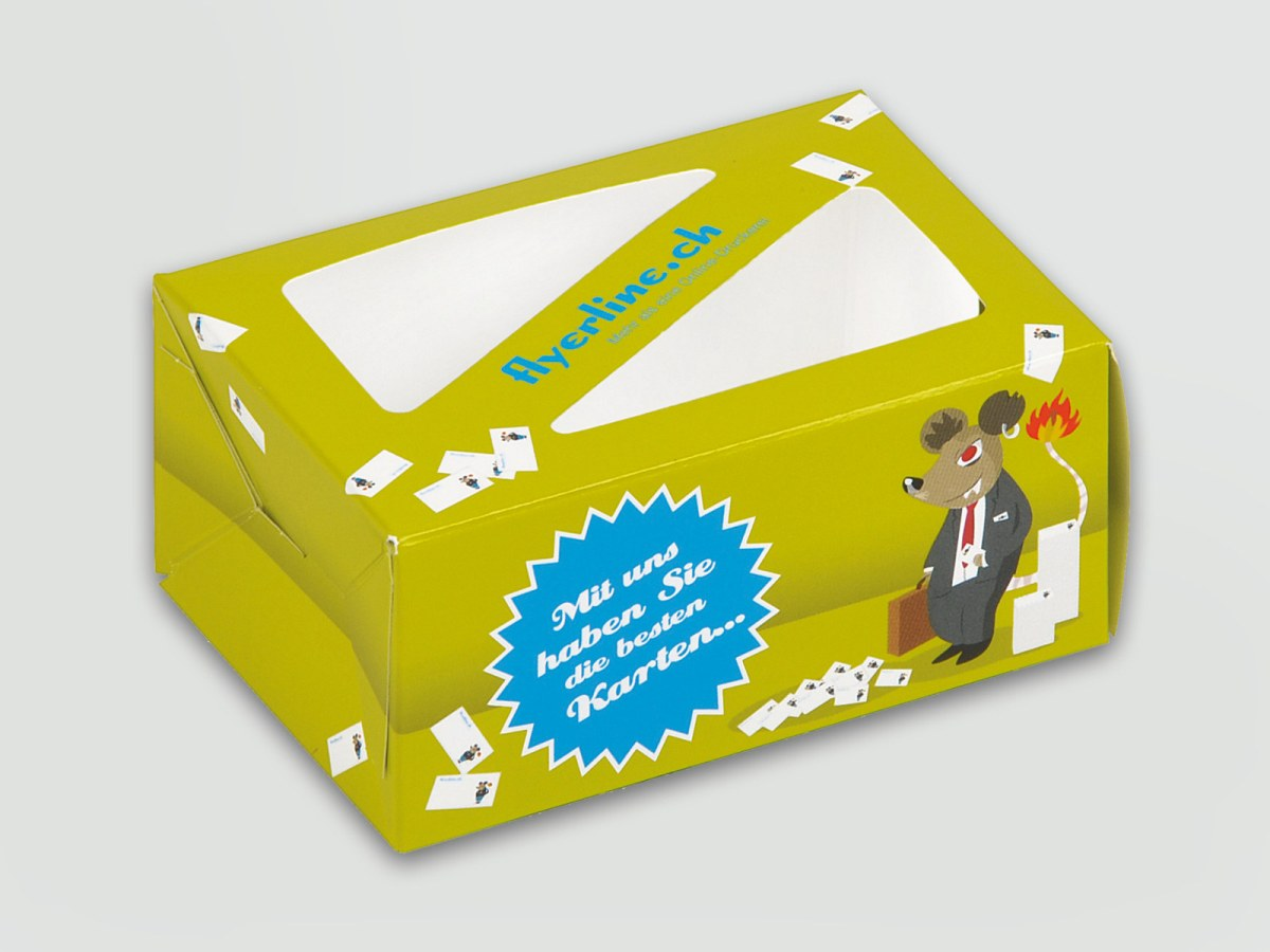 Business Card Box With Viewing Window Dinkhauser Kartonagen