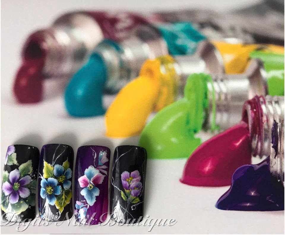 One Stroke Nail Art Course Dinky Digits Nails Boutique