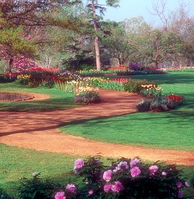 Monticello, alei cu flori