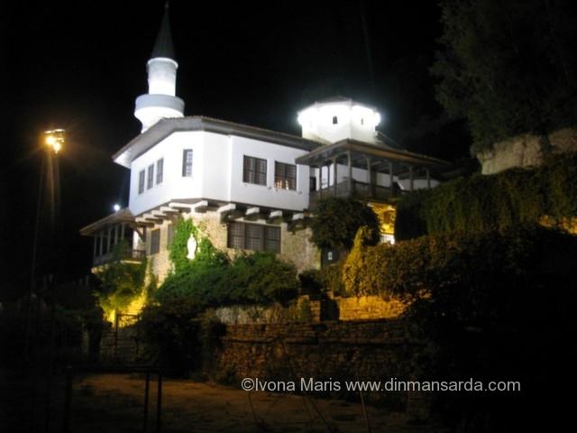 The Balchik Castle by night