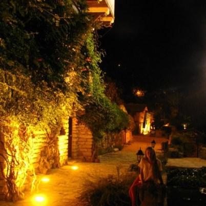Vila Cuibul Linistit de la Balcic, Aleea vinului in spate