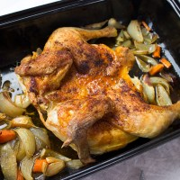Plattes Huhn nach Johann Lafer
