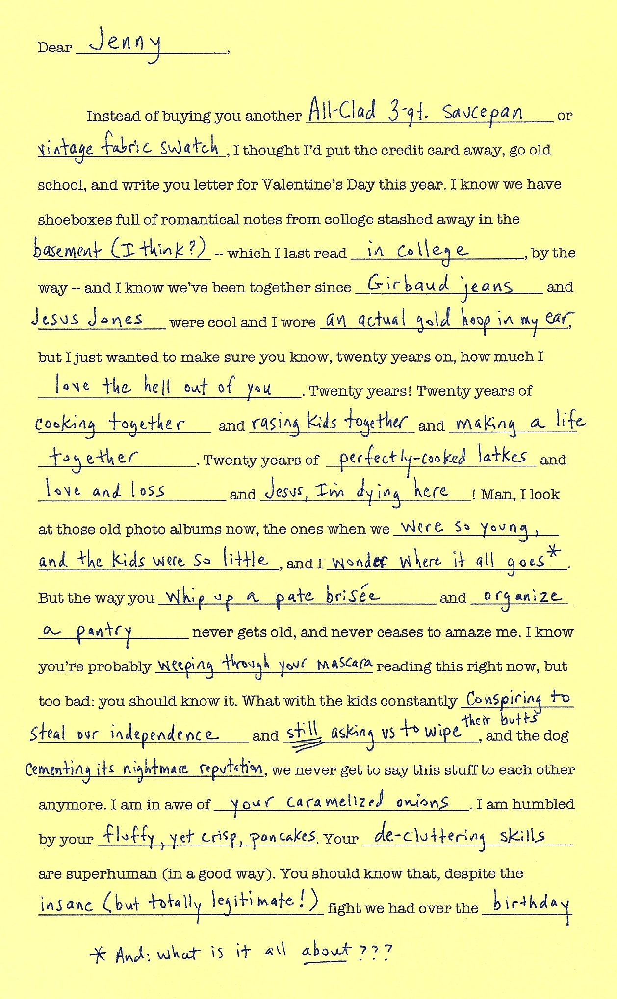 Funny Mad Libs For Adults Printable