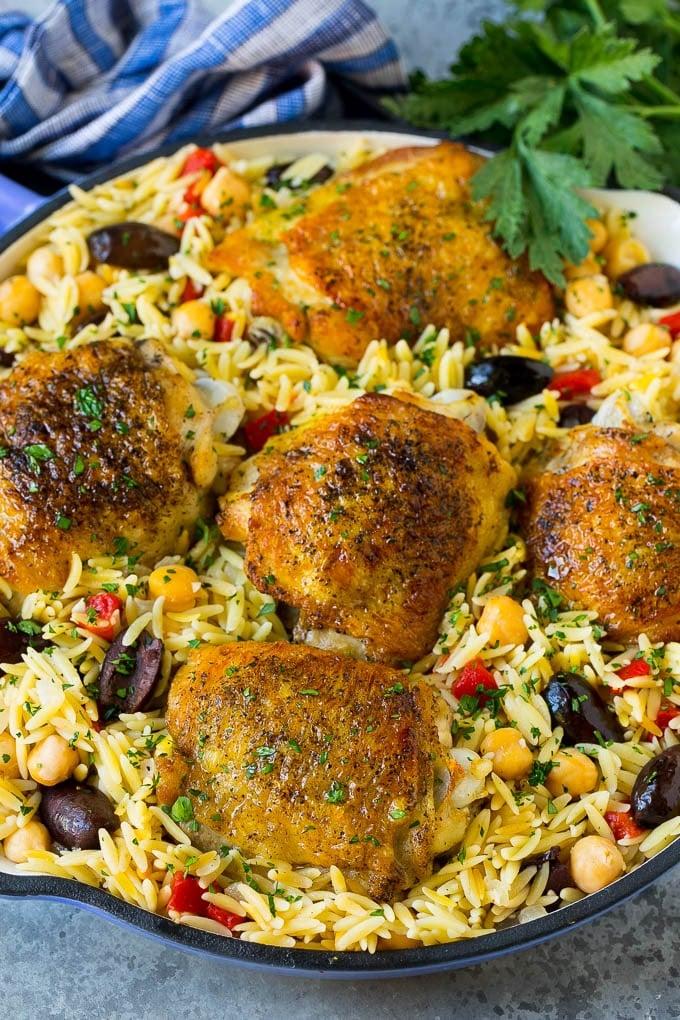 Mediterranean Chicken - Dinner at the Zoo