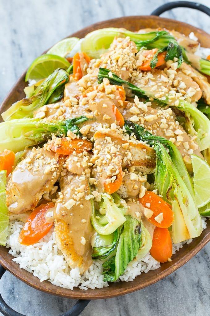 Thai Peanut Chicken {Dinner at the Zoo}