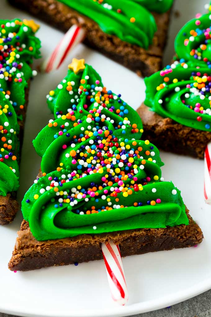Brownies Christmas Trees