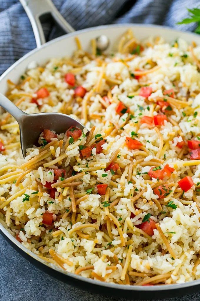 Side Rice And Tomatoes Dish