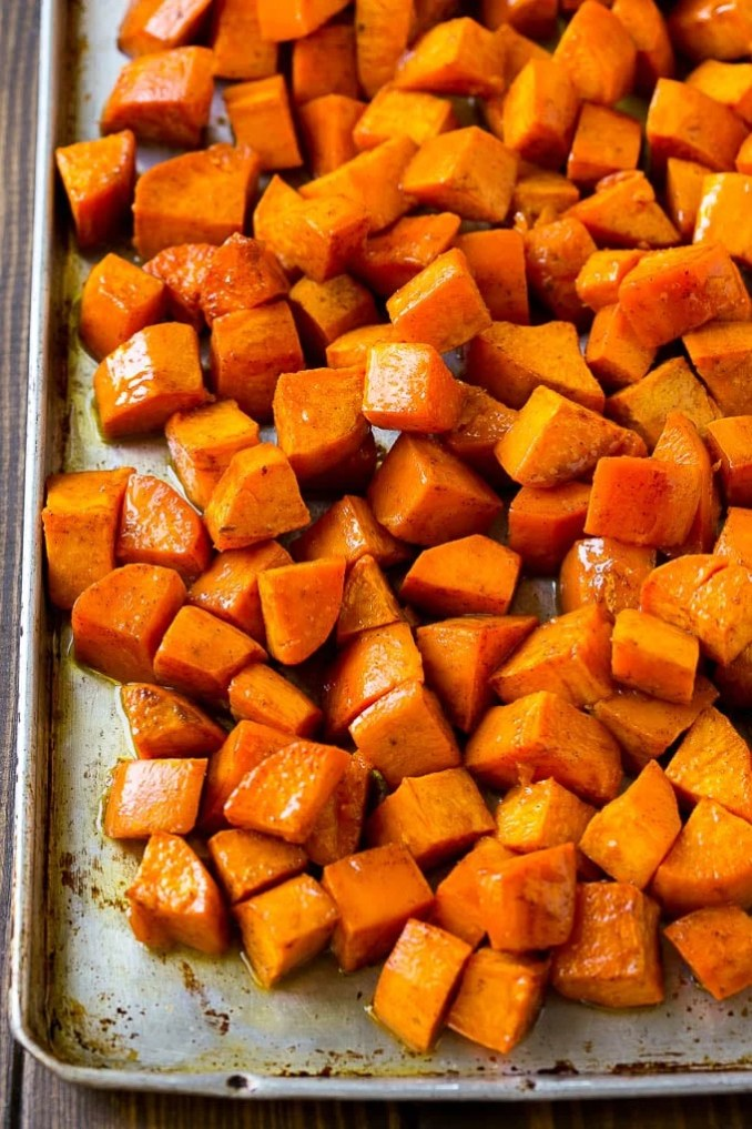 Roasted Sweet Potatoes with Maple Butter - Dinner at the Zoo