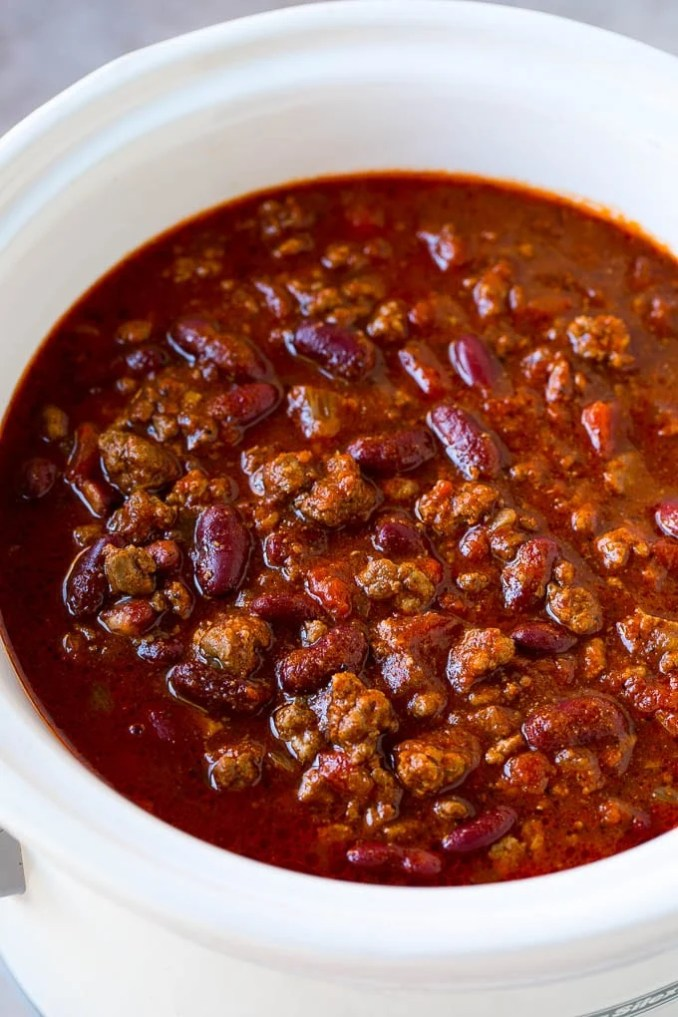 Slow Cooker Chili - Dinner at the Zoo
