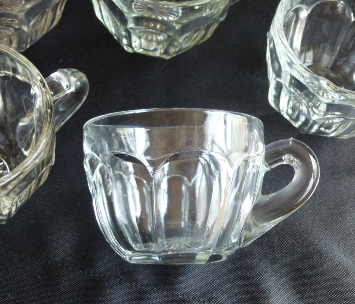HY0003 Heisey Glass Punch Cups set of 5 Colonial molded