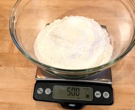 Measuring the flour