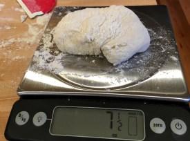 Dividing the dough