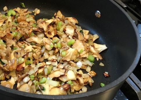 Sautéed onions, celery, and mushrooms