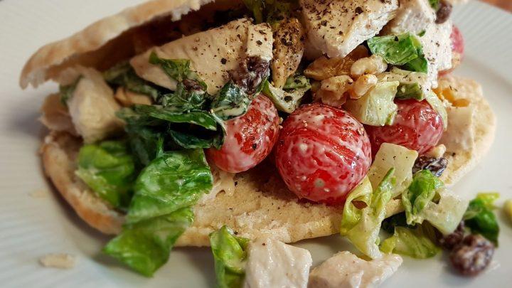 Sweet and Crunchy Chicken Pitta Salad