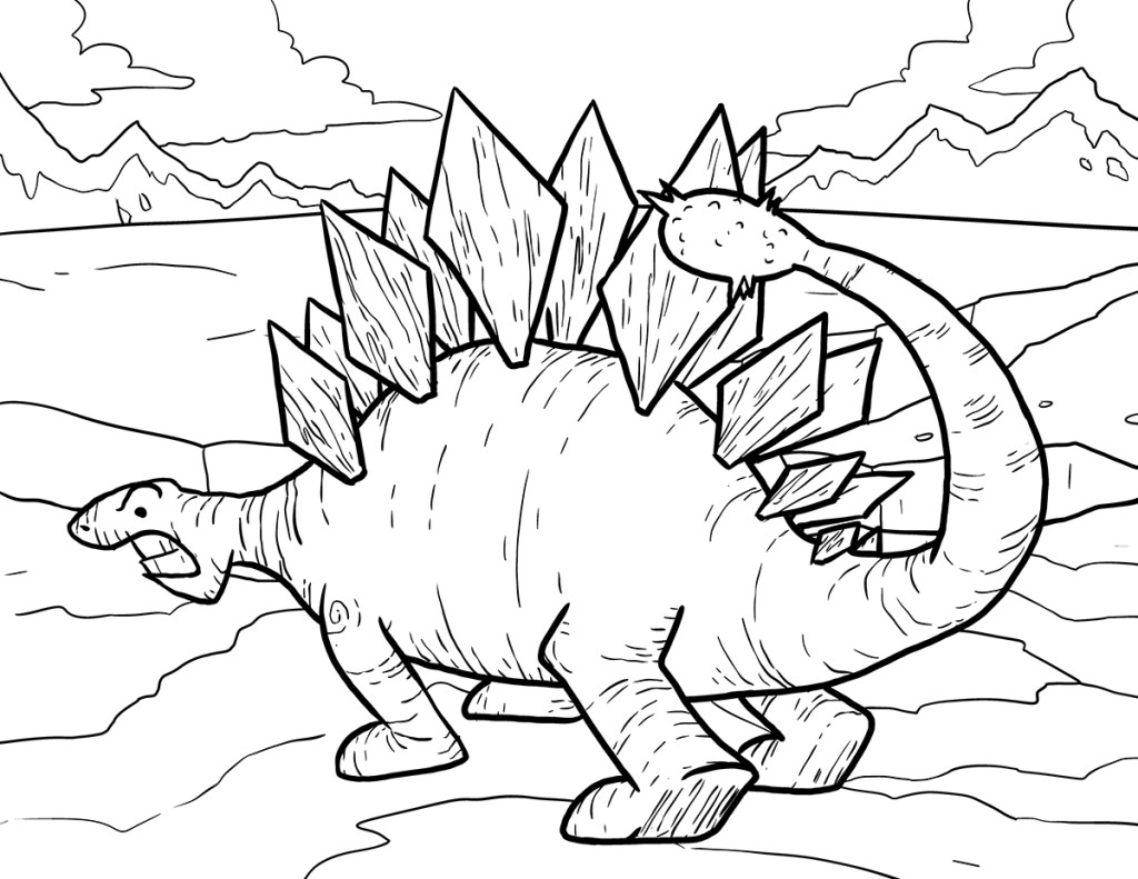 Online Stegosaurus Coloring Pages For Kids Dinosaurs