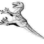 velociraptor coloring pages for kids