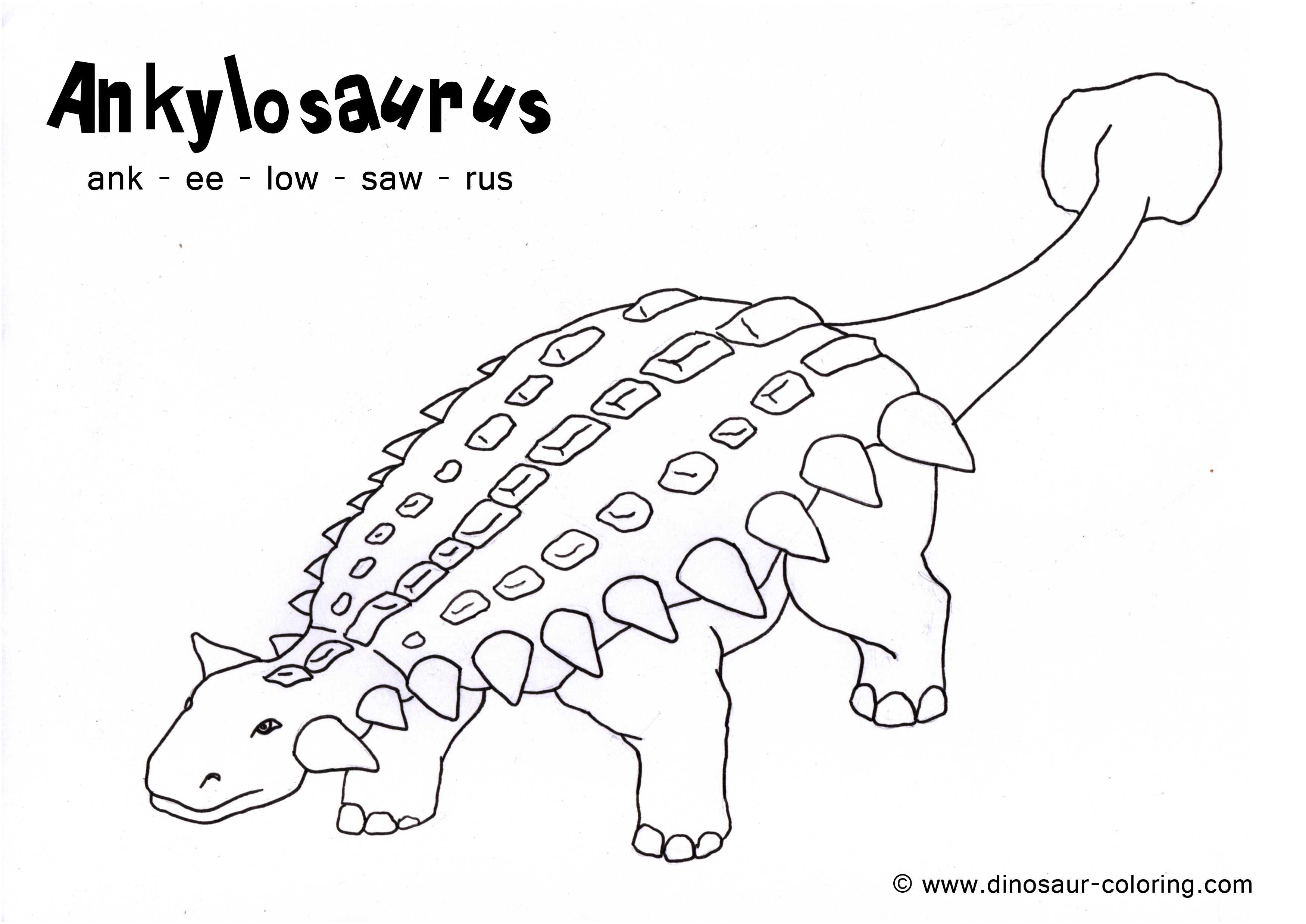 Ankylosaurus Coloring Pages