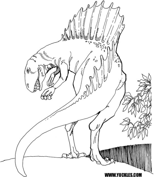 t rex and spinosaurus coloring pages