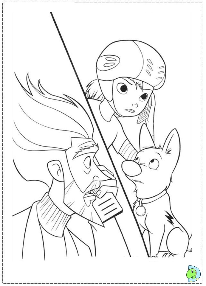Bolt coloring page- DinoKids.org
