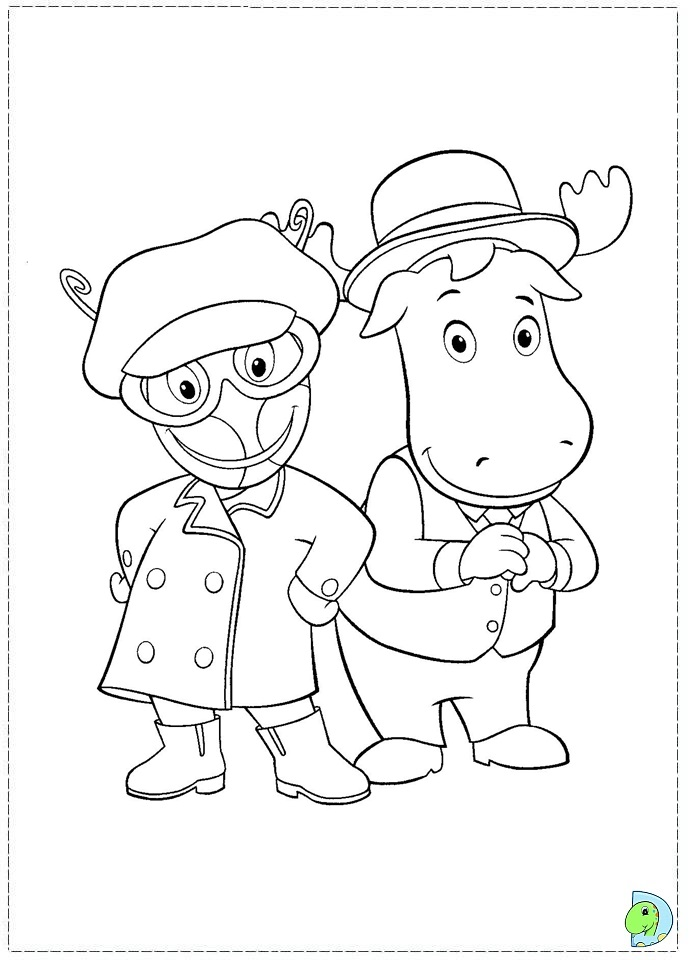 nickelodeon backyardigans pages coloring pages