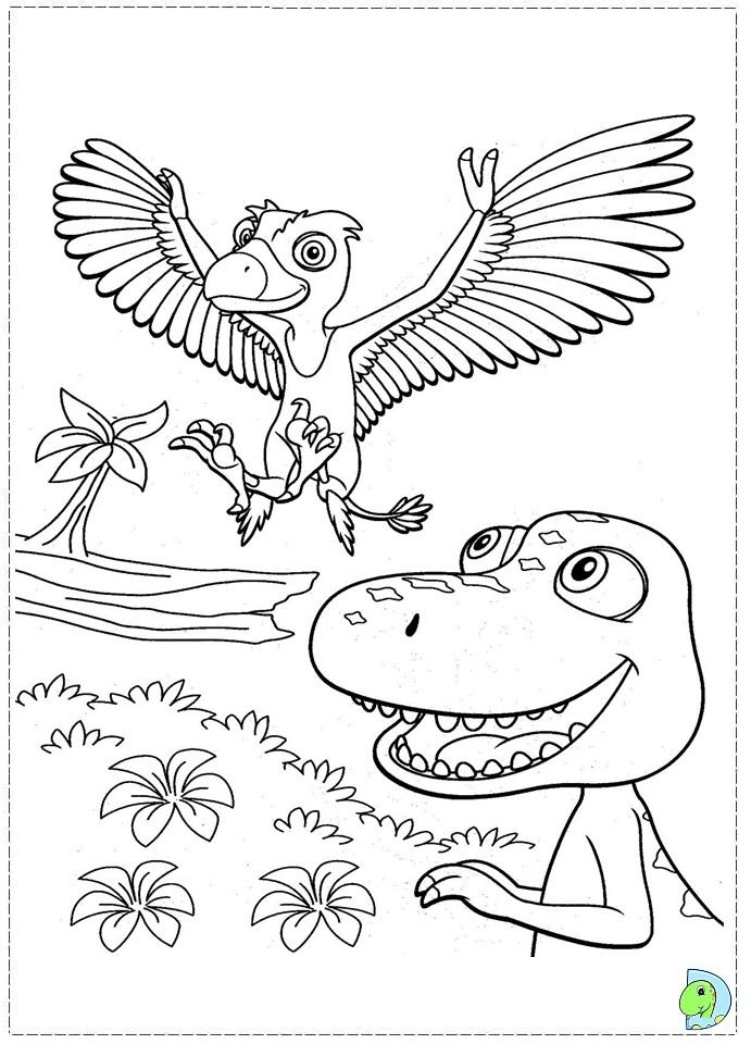 Dino Train Coloring Page