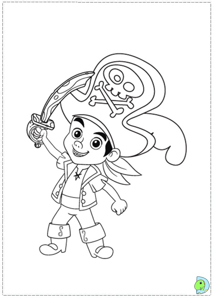 Jake and the Neverland Pirates coloring page DinoKidsorg