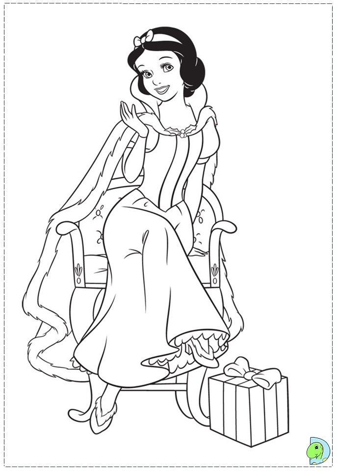 christmas disney princess coloring page dinokids