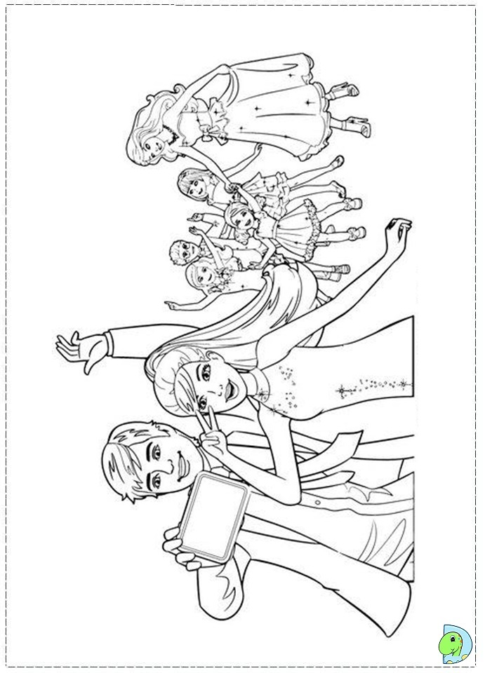 Barbie And Her Sisters In A Pony Tale Coloring Pages