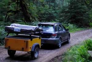 Dinoot Jeep Trailers Jeep Trailer towed by Subaru