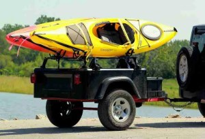 Dinoot Jeep Trailers Jeep trailer by Dinoot trailers as a kayak hauler