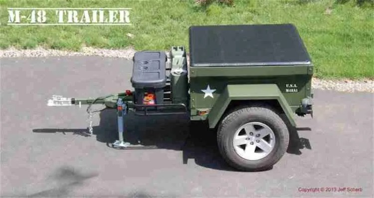 Dinoot Jeep Trailers How-To Build a 4' M416 Camping Trailer