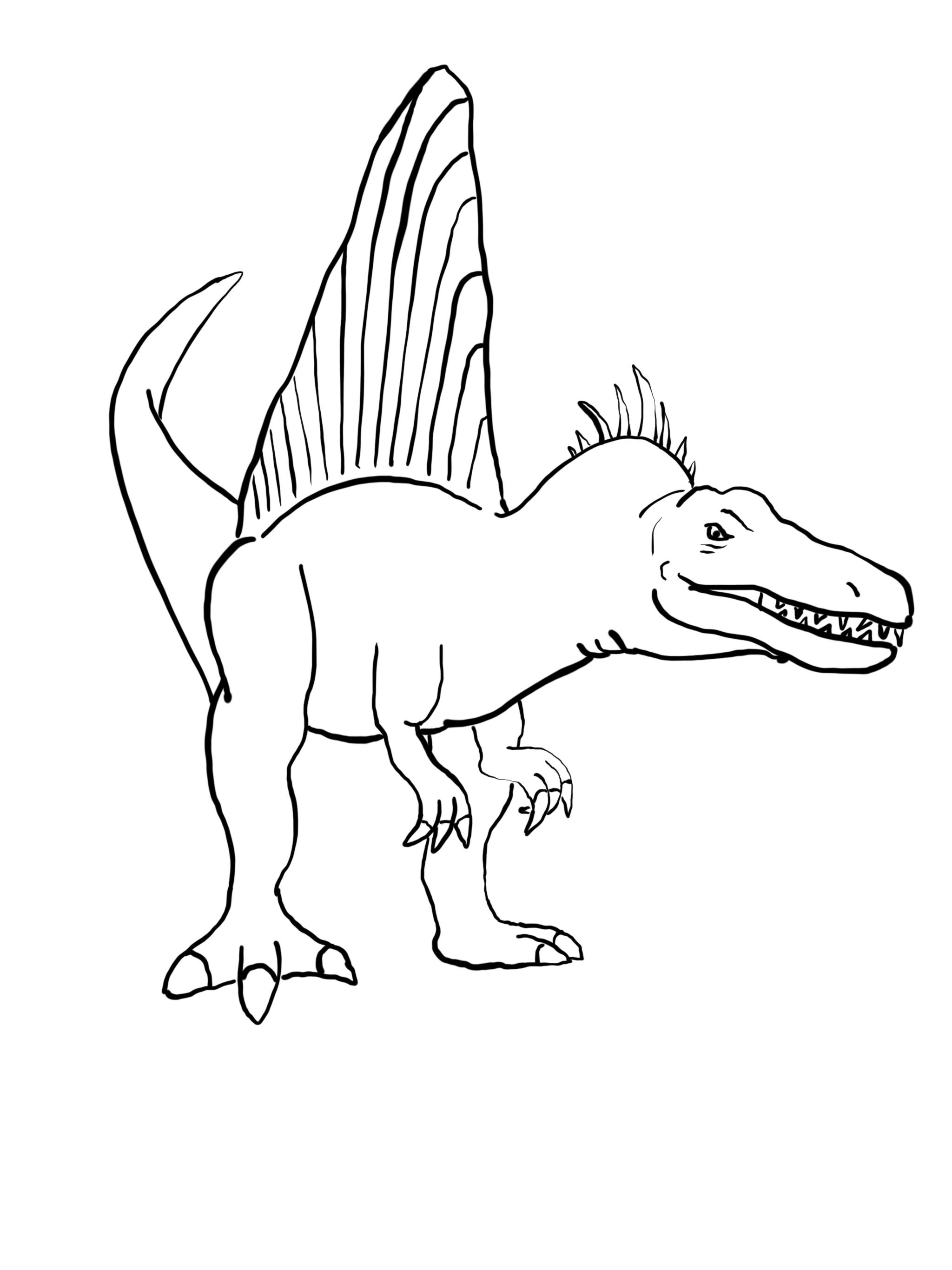 9 Spinosaurus Coloring Pages PDF - Dinosaur Coloring Books