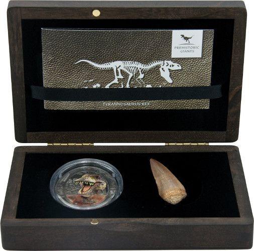 congo tyrannosaurus coin