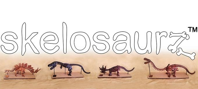 skelosaurz leather dinosaur model kits