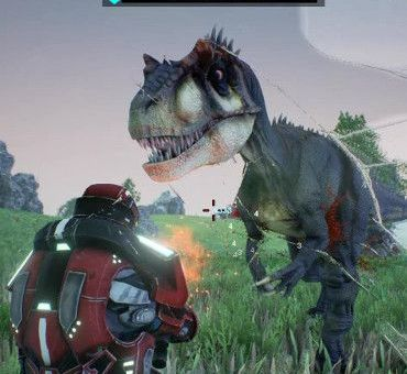 sci fi dinosaur video game