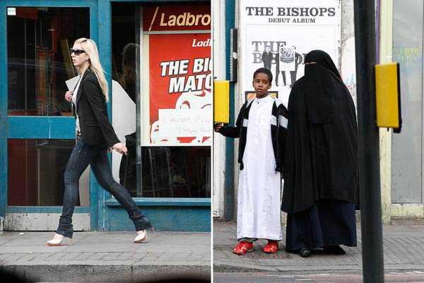 Burqa à Londres