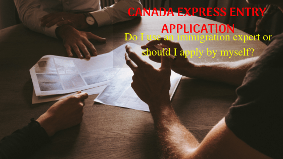 Do I use an immigration consultant or should I apply for myself? – Canada Express Entry Application