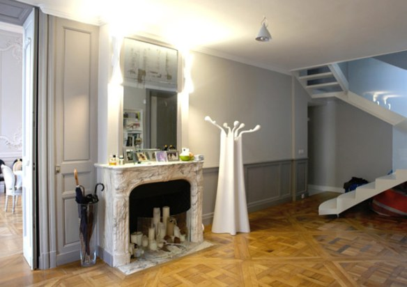 decoración chimenea