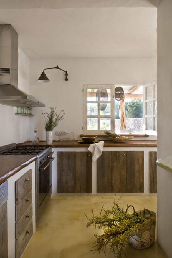 cocina estilo natural en Formentera